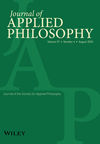 Journal of Applied Philosophy (JAPP) cover image