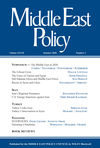 Middle East Policy (MEPO) cover image