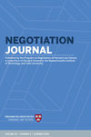 Negotiation Journal (NEJO) cover image