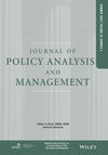 Journal of Policy Analysis and Management (PAM) cover image