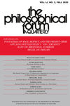 The Philosophical Forum (PHIL) cover image