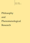 Philosophy and Phenomenological Research (PHP3) cover image