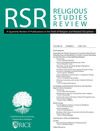 Religious Studies Review (RSR) cover image