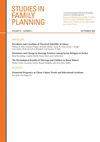Studies in Family Planning (SIFP) cover image