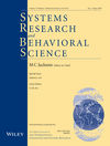 Systems Research and Behavioral Science (SRBS) cover image