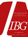Transactions of the Institute of British Geographers (TRAN) cover image