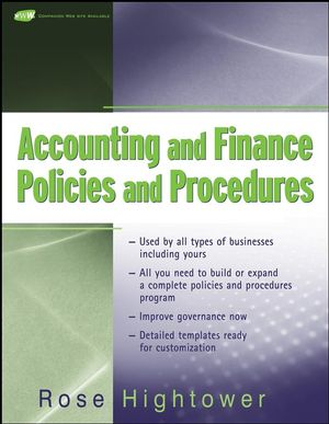 Accounting and Finance Policies and Procedures (0470273100) cover image