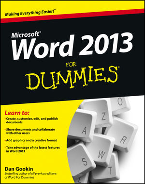 Word 2013 For Dummies (1118491300) cover image