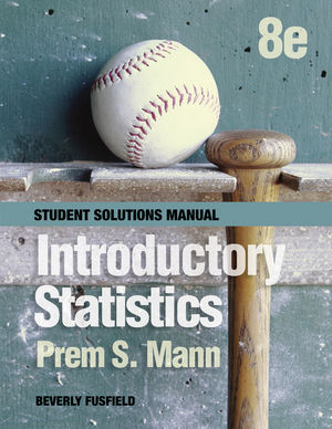 Introductory Statistics, Student Solutions Manual, 8th Edition (1118504100) cover image