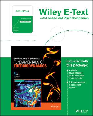 Fundamentals of Thermodynamics, Loose-leaf Print Companion, 9th Edition
