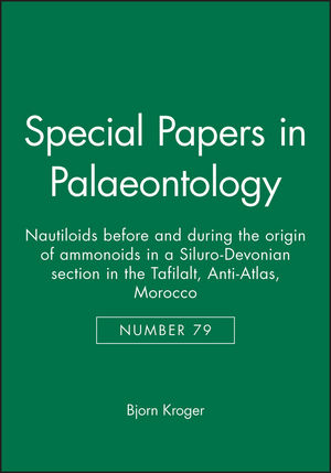 Special Papers in Palaeontology, Number 79, Nautiloids before and during the origin of ammonoids in a Siluro-Devonian section in the Tafilalt, Anti-Atlas, Morocco