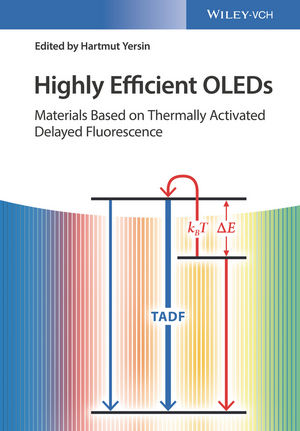 Highly Efficient OLEDs: Materials Based on Thermally Activated Delayed Fluorescence