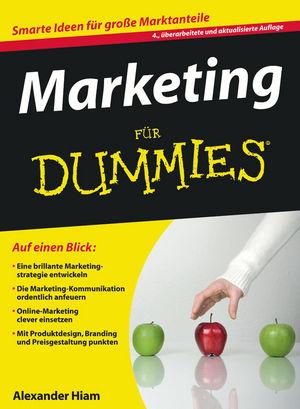 Marketing für Dummies, 4., überarbeitete und aktualisierte Auflage (3527642900) cover image