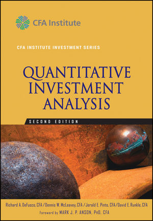 Quantitative Investment Analysis, 2nd Edition (0470052201) cover image