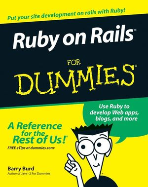 Ruby on Rails For Dummies (0470081201) cover image