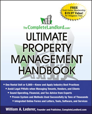 The CompleteLandlord.com Ultimate Property Management Handbook (0470466901) cover image