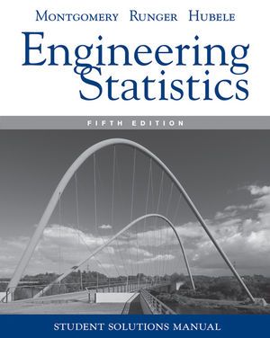 Engineering Statistics, Student Solutions Manual , 5th Edition (0470905301) cover image