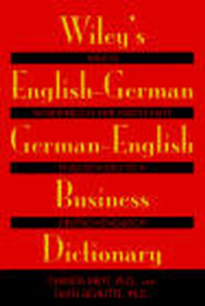 Wiley's English-German, German-English Business Dictionary