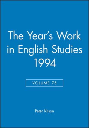 The Year's Work in English Studies 1994, Volume 75