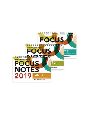 Wiley CIA Exam Review Focus Notes 2019: Complete Set