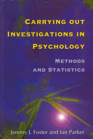 Carrying out Investigations in Psychology: Methods and Statistics (1854331701) cover image