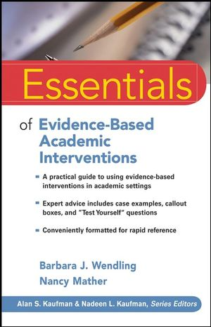 Essentials of Evidence-Based Academic Interventions (0470460202) cover image