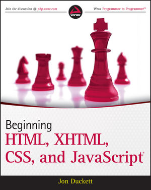 Beginning HTML, XHTML, CSS, and JavaScript (0470540702) cover image