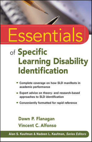 Essentials of Specific Learning Disability Identification (0470920602) cover image