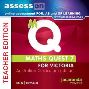 Assesson Maths Quest 7 Australian Curriculum Victoria Edition Teacher Edition (Online Purchase)