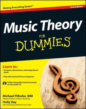 Music Theory For Dummies, with Audio CD, 2nd Edition (1118095502) cover image