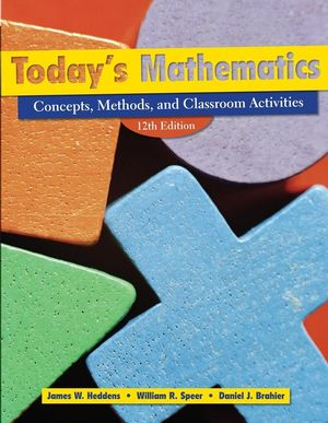 Today's Mathematics: Concepts, Methods, and Classroom Activities, (Shrinkwrapped with CD inside envelop inside front cover of Text), 12th Edition