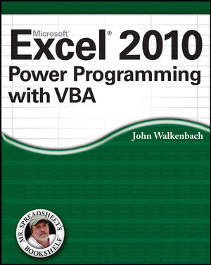 Excel 2010 Power Programming with VBA (0470625503) cover image