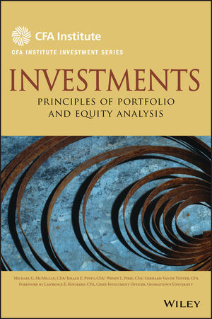 Investments: Principles of Portfolio and Equity Analysis (0470915803) cover image