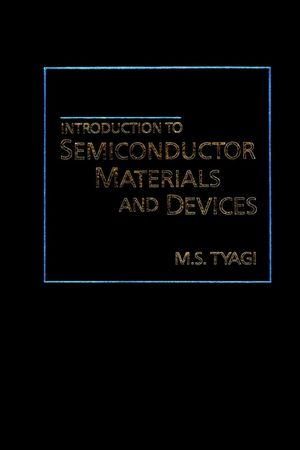 Introduction to Semiconductor Materials and Devices (0471605603) cover image