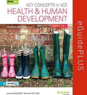 Key Concepts In VCE Health And Human Development Units 3&4 4E eGuidePLUS (Online Purchase)
