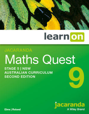 Jacaranda Maths Quest 9 Stage 5 NSW Australian curriculum 2e learnON (Codes Emailed)