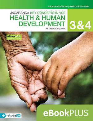 Key Concepts in VCE Health and Human Development Units 3 & 4 5E Ebooks Plus (Codes Emailed) + StudyOn VCE Health and Human Development Units 3 & 4 (Code