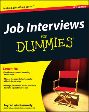 Job Interviews For Dummies, 4th Edition (1118112903) cover image