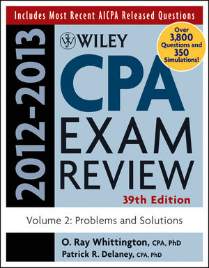 Wiley CPA Examination Review, Volume 2, Problems and Solutions, 39th Edition 2012-2013 (1118254503) cover image