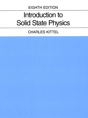 Introduction to Solid State Physics, 8th Edition (EHEP000803) cover image