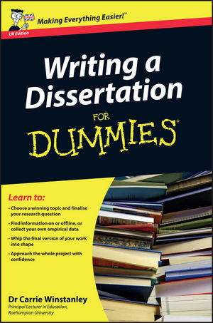 Help writing dissertation dummies amazon