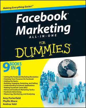 Facebook Marketing All-in-One For Dummies® (0470942304) cover image