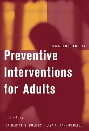 Handbook of Preventive Interventions for Adults (0471569704) cover image