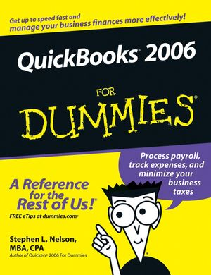 QuickBooks 2006 For Dummies (0471980404) cover image
