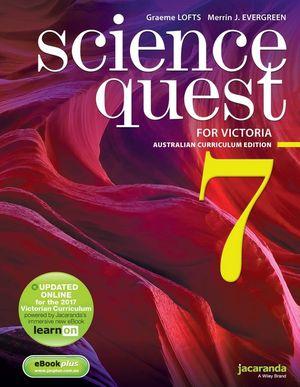 Science Quest 7 for Victoria Australian Curriculum Edition & eBookPLUS