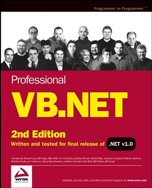 Professional VB.NET, 2nd Edition (0764544004) cover image