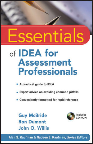 Essentials of IDEA for Assessment Professionals (1118041704) cover image