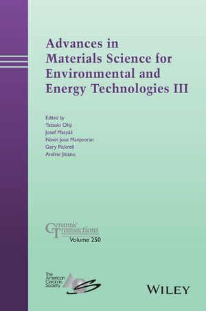 Advances in Materials Science for Environmental and Energy Technologies III (1118996704) cover image
