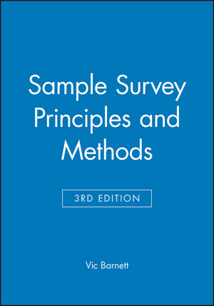 Sample Survey Principles and Methods, 3rd Edition (0470685905) cover image