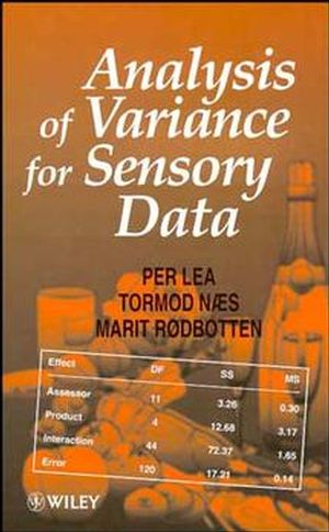 Analysis of Variance for Sensory Data (0471967505) cover image
